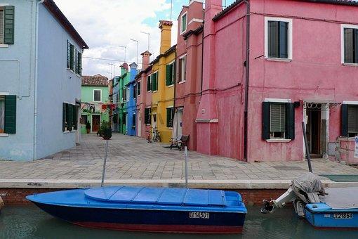 Burano, Venice, Italy, Colorful Houses, Houses, Windows