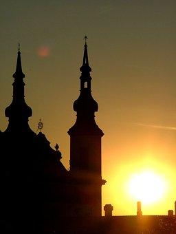 Sunset, Litomyšl, Romance, Summer, West