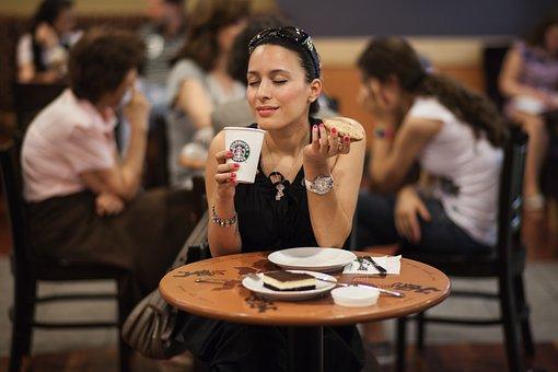 Women's, Model, Food, Drink, Coffee, Starbucks, Cookies