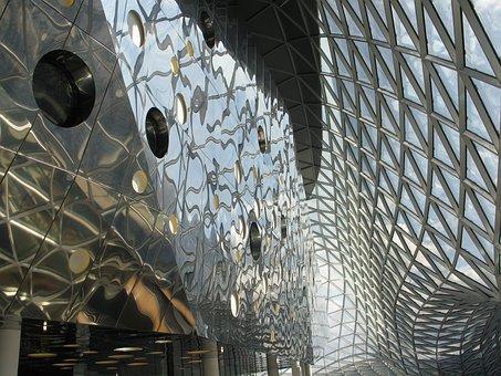 Window, Light, Mirror, Triangles, Round, Architecture