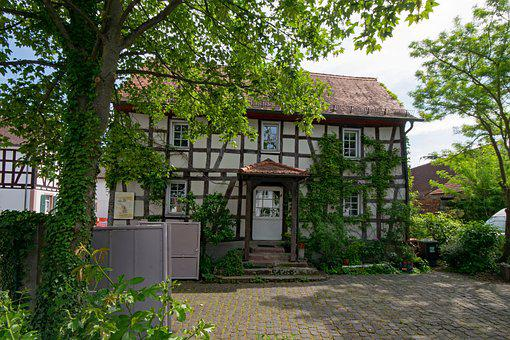 Darmstadt, Arheilgen, Hesse, Germany, Old Town, Truss