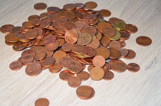 Loose Change, Coins, Brown, Specie, Penny