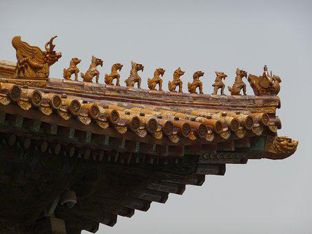 Roof Decoration, Chinese, Architecture, Culture, China