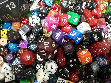 Dice, D20, Game, Role, D12, D8, Rpg, Die, D4, D10, D100