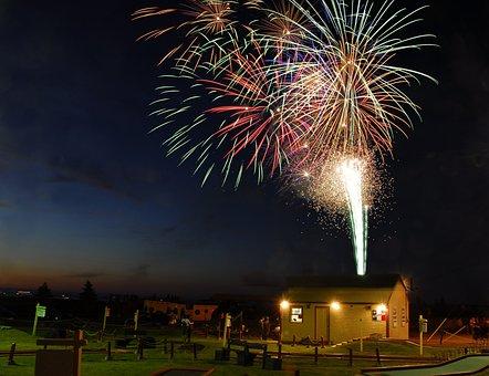 Fireworks, Caraquet, Canada Day, Celebration