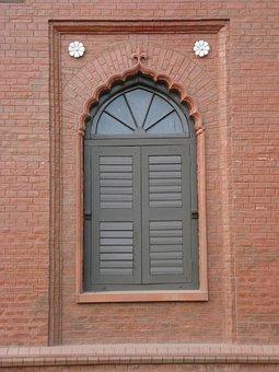 Front Of Curzon Hall's Window, British Raj-era Building