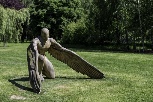Garden Sculpture, Greer The Angel, Sculptor Ed Elliott