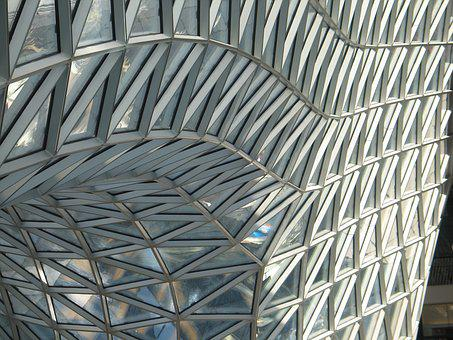 Architecture, Window, Arch, Round, Glass Roof, Facets