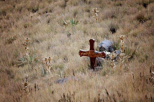 Hill, Cross, Holy, Crucifix, Wood, Wooden, Faith