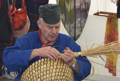Craft, Man, People, Basket Maker, Braid, Pet