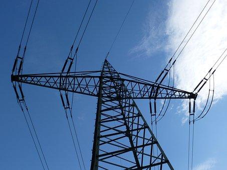High Voltage, Mast, Power Lines, Power Line