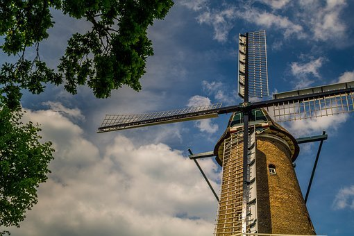 Windmill, Holland, Netherlands, Dutch Windmill, Mill