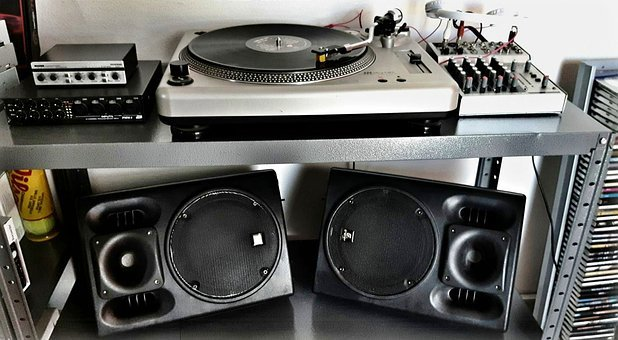 Music, Hi, Turntable, Speakers, Mixer, Free Wallpaper