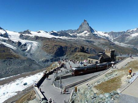 Mountains, Matterhorn, Glacier, Mountain Railway