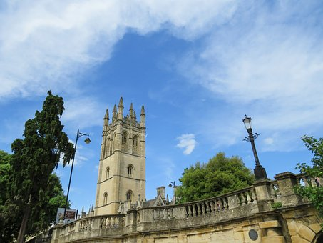 Magdalen, College, Bridge, Oxford, University