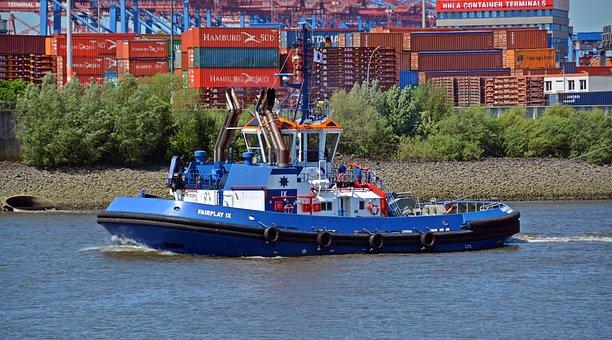 Tug, Lotze, Ship, Port Tractor