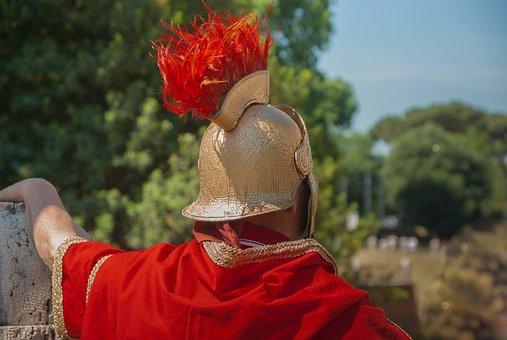 Rome, Roman, Antique, Soldier, Helmet