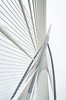 Rope, Steel, Bridge, Great, Background, Architecture