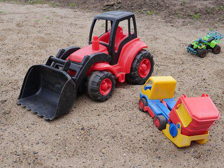 Toys, Tractor, Plastic, Toy, Sand, Boy, Construction