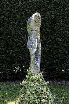 Garden Sculpture, Stone, Trying To Recall