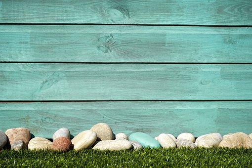 Fence, Grass, Yard, Wooden, Design, Green, Outdoor