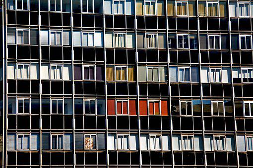 Windows, Many Building, Architecture, Lines