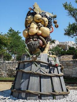 Sculpture, Giant, Arcimboldo, Fruit, Four Seasons