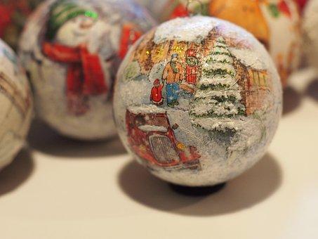 Christmas Ballschristmas, Balls, Holidays, Santa
