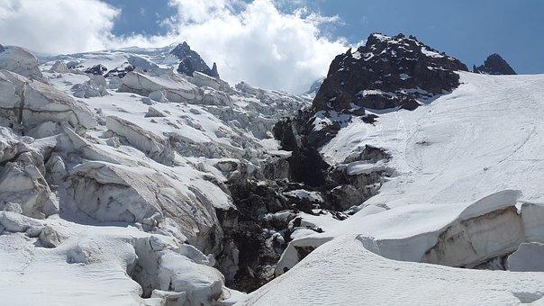Glacier, La Jonction, Bossons Glacier, Mont Blanc