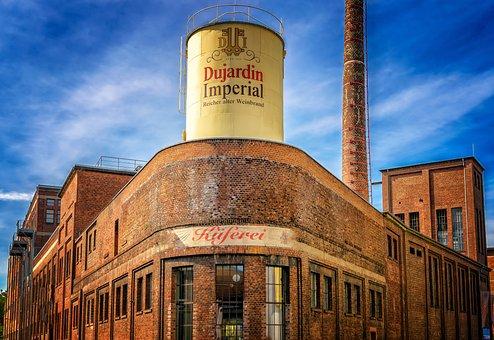 Brandy, Restaurant, Krefeld, Germany, Factory, Industry