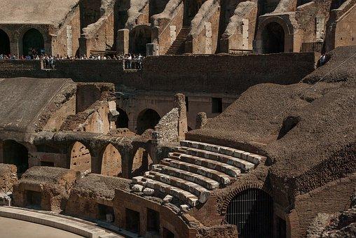 Rome, Coliseum, Amphitheater, Ancient Architecture