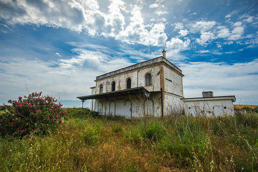 Abandoned Building, Train Station, Country, Serpa