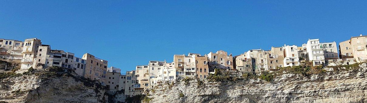 Wallpaper, Dual Screen, Corsica, Bonifacio, Cliff, Edge