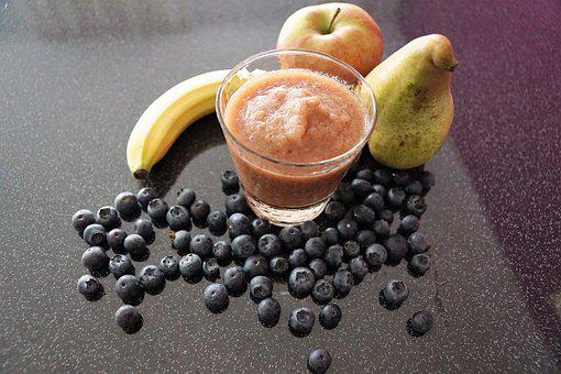 Smoothie, Healthy, Drink, Blueberries, Eat, Vitamins