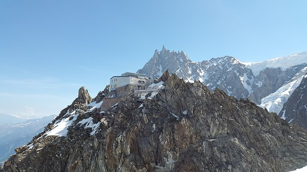 Refuge Des Grands Mulets, Chamonix, France, Hut