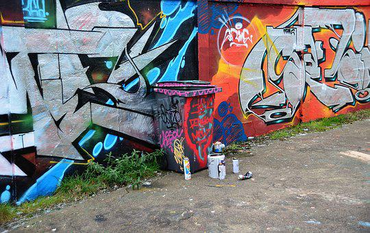 Tags, Fresco, Mural, Colors, Painted Walls, Painting