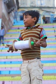 Boy, Kite, Fly, Childhood, Happy, Fun, Kid, Activity
