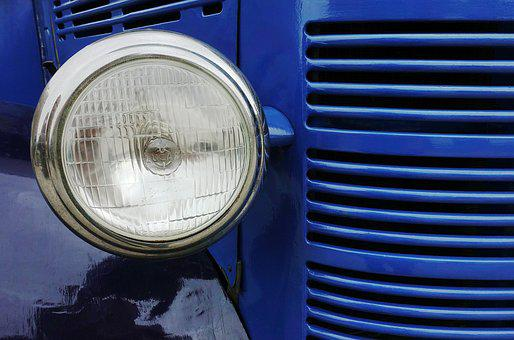 Headlamp, Headlight, Van, Truck, Bedford, Light