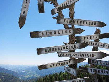 Shield, Directory, Hiking, Orientation, Signposts