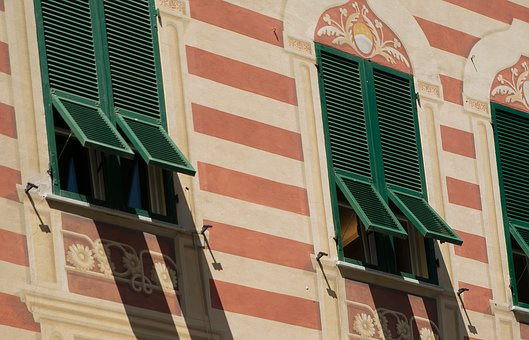 Italy, Monterosso, Shutters, Colorful Houses, Windows
