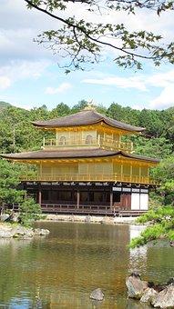 Kinkaku-ji, Kyoto, Japan, Temple Of The Golden Pavilion
