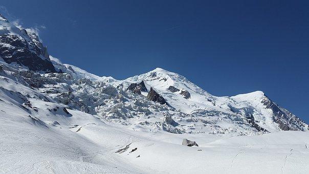 Bossons Glacier, La Jonction, Mont Blanc, Grands Mulets