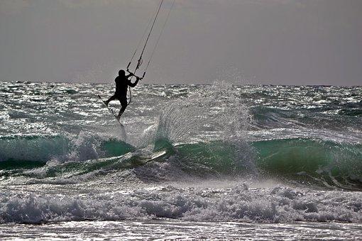 Mediterranean, Surf, Kite Surfing, Kite Surf, Murcia