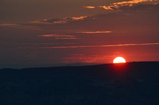 Sunrises, Kapadokya, Landscape, Cappadocia, Nature