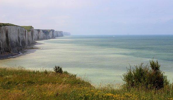 Cliff, Opal Coast, Sea, France, Handle, Seascape
