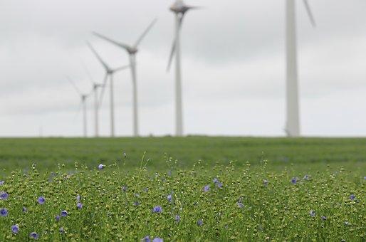 Wind Turbine, Lin, France, Opal Coast, Landscape