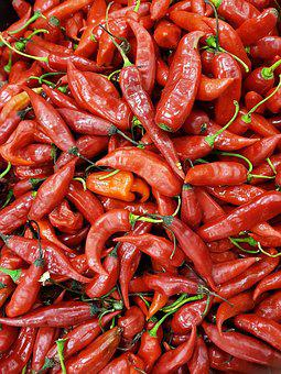 Pepper, Spicy, Seasoning, Plants, Food, Red, Tasty