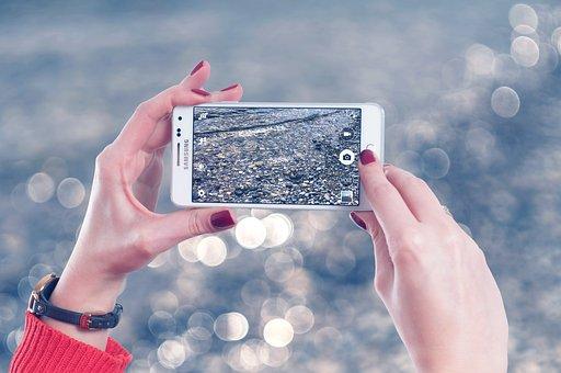 Woman, Photograph, Recording, Smartphone, Photography