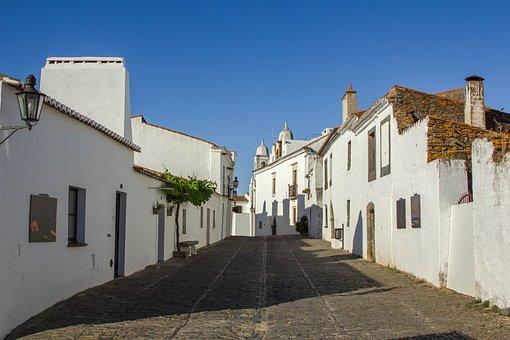 Architecture, Buildings, Street, Monsaraz, Portugal