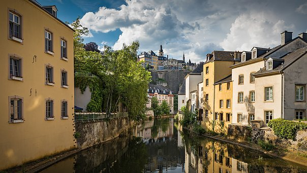 Luxembourg, Basic, Historic Center, River, Historically